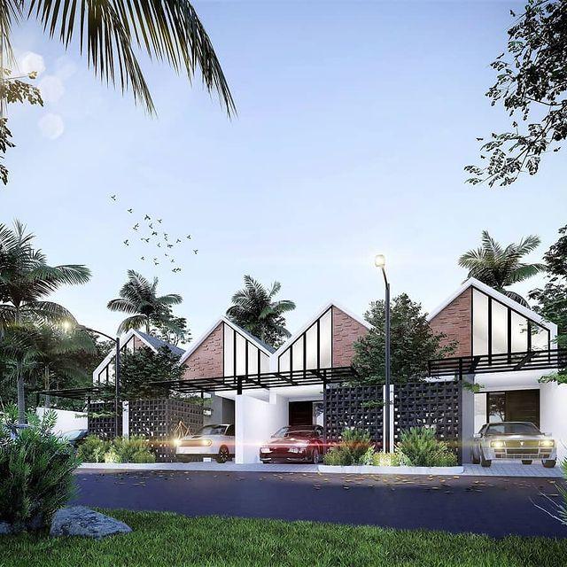 desain rumah minimalis ada warungnya