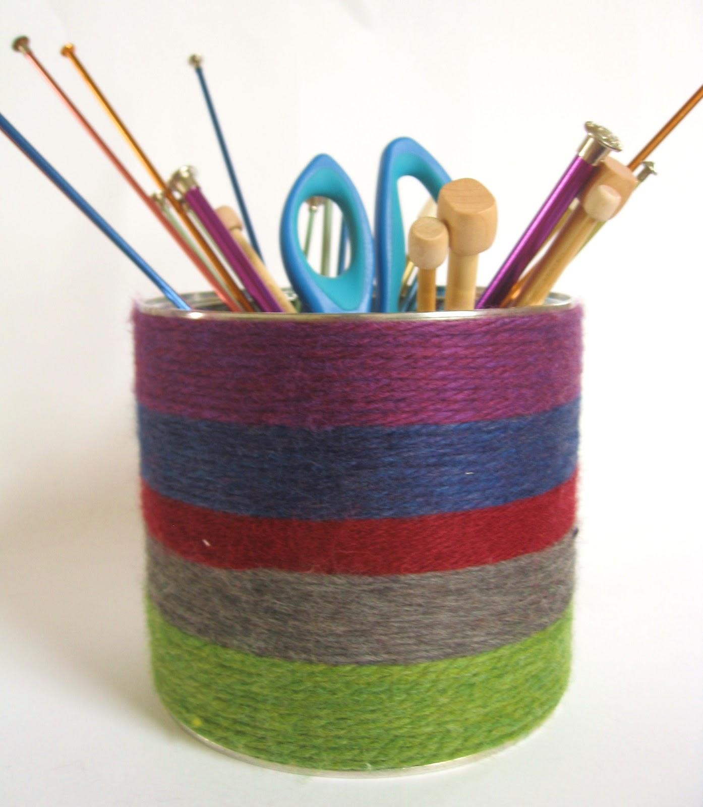 Megan E Sass Handknits: DIY: Yarn Wrapped Storage Tin Tutorial