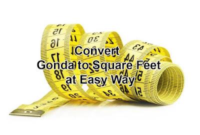 Convert 1 Gonda = Square Feet