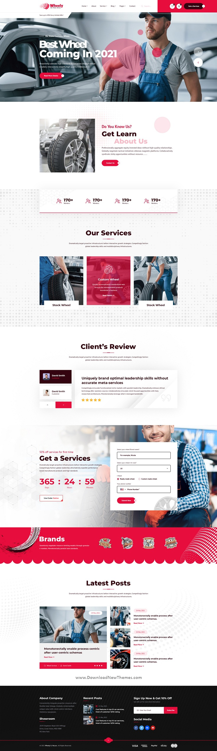 Wheel Services & Sales PSD Template
