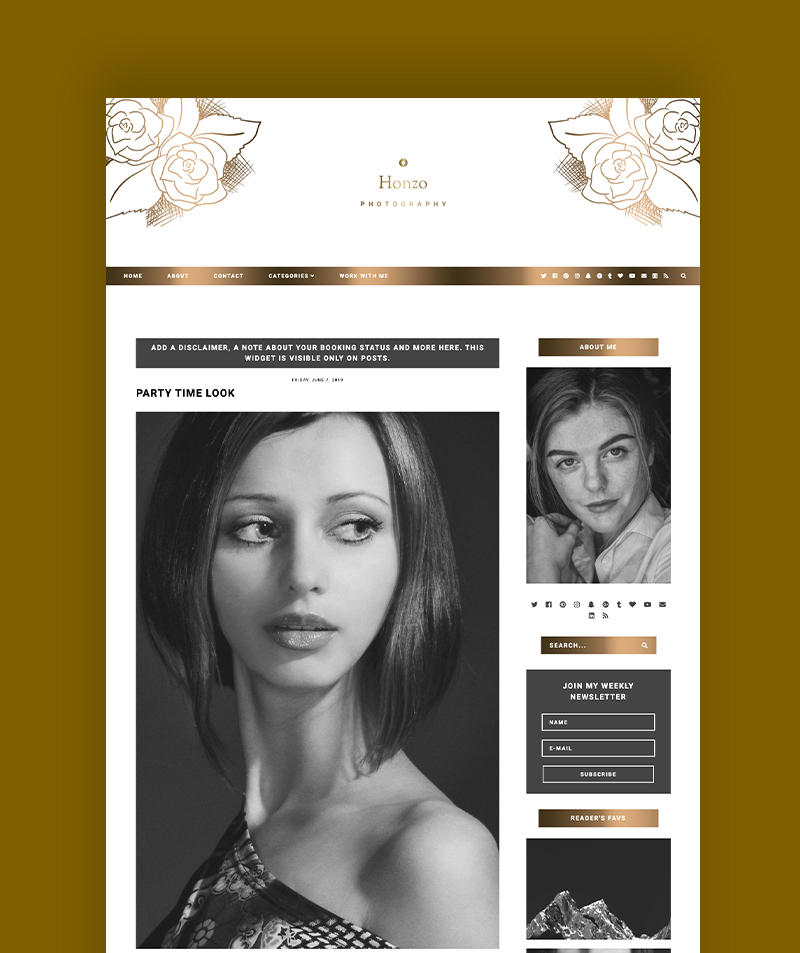 post page view for responsive blogger template honzo photography