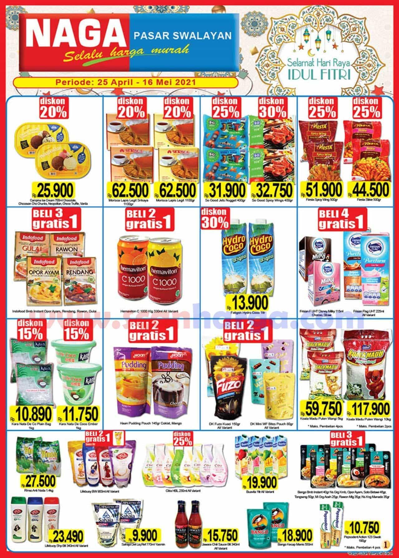 Katalog Promo Naga Pasar Swalayan 25 April - 16 Mei 2021 1