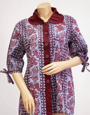 model baju batik kerja atasan wanita