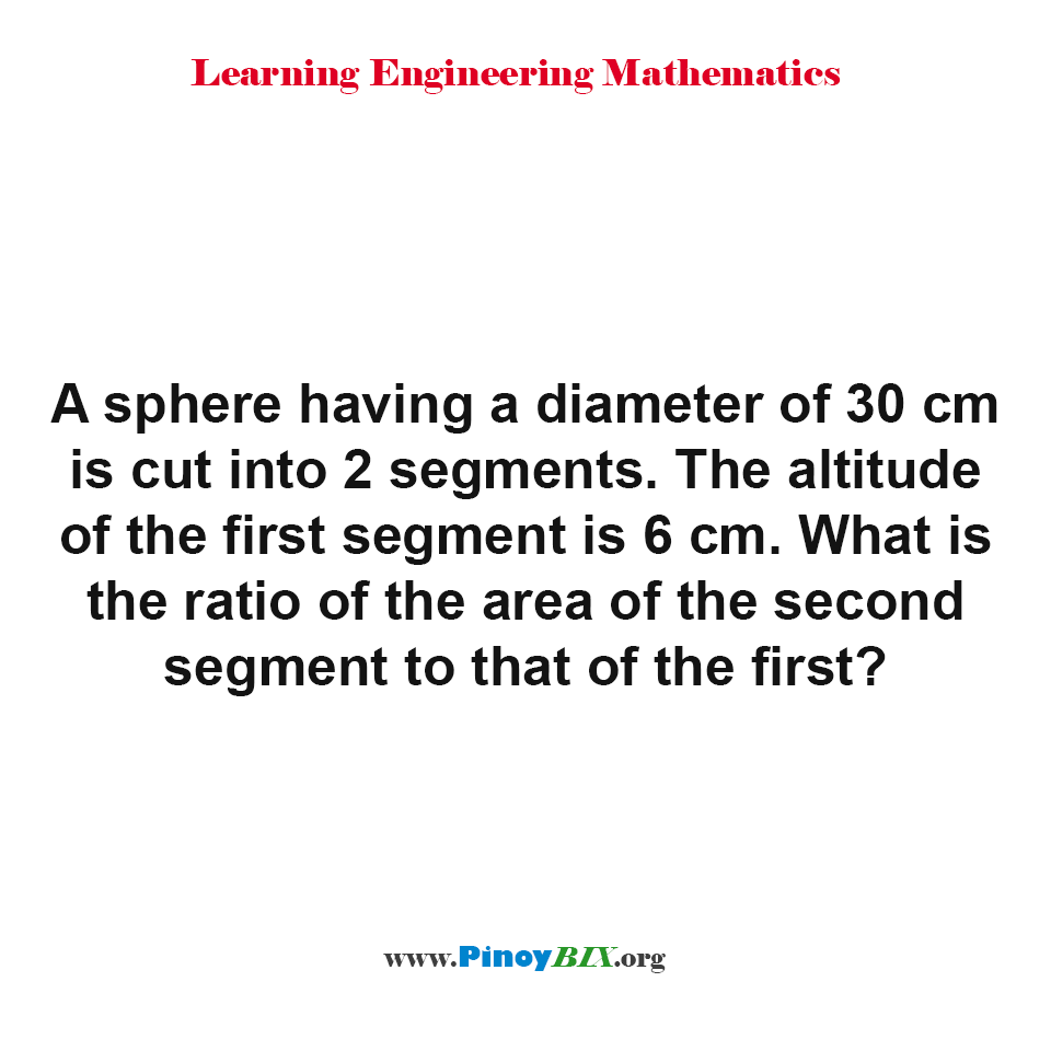 What is the ratio of the area of the second segment to that of the first?