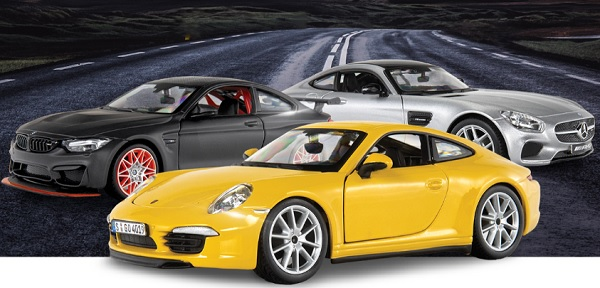 Colección de autos a escala para armar Autos Deportivos Alemanes