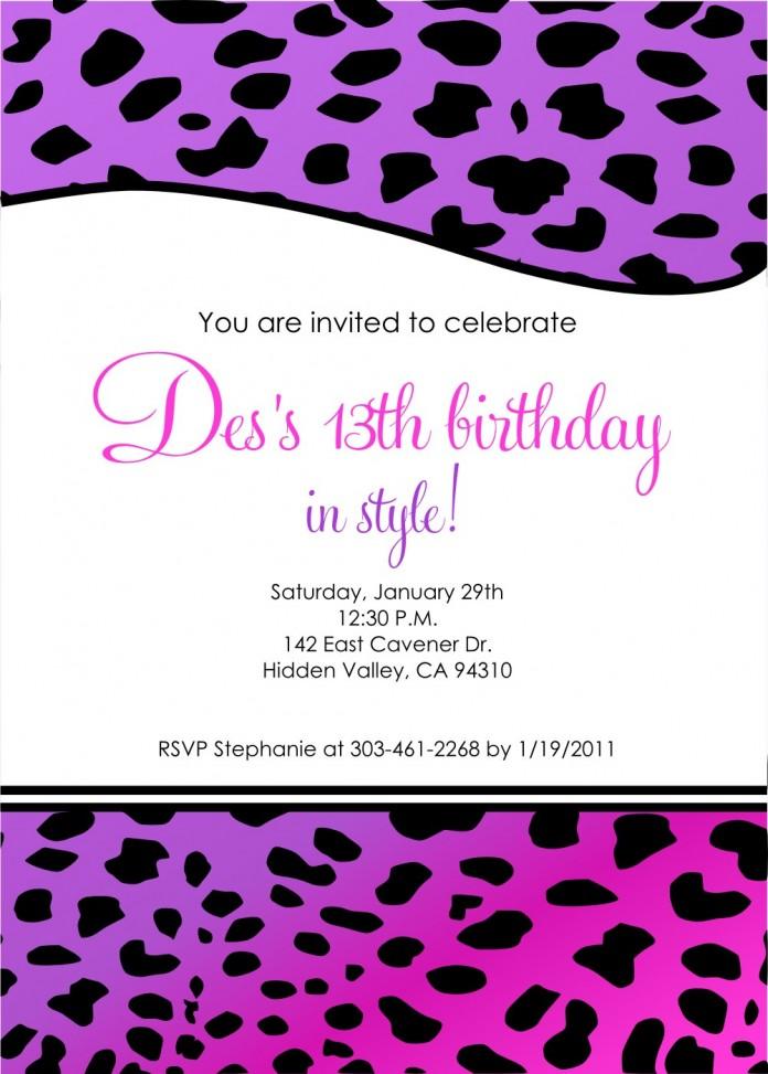my hope birthday invitation template