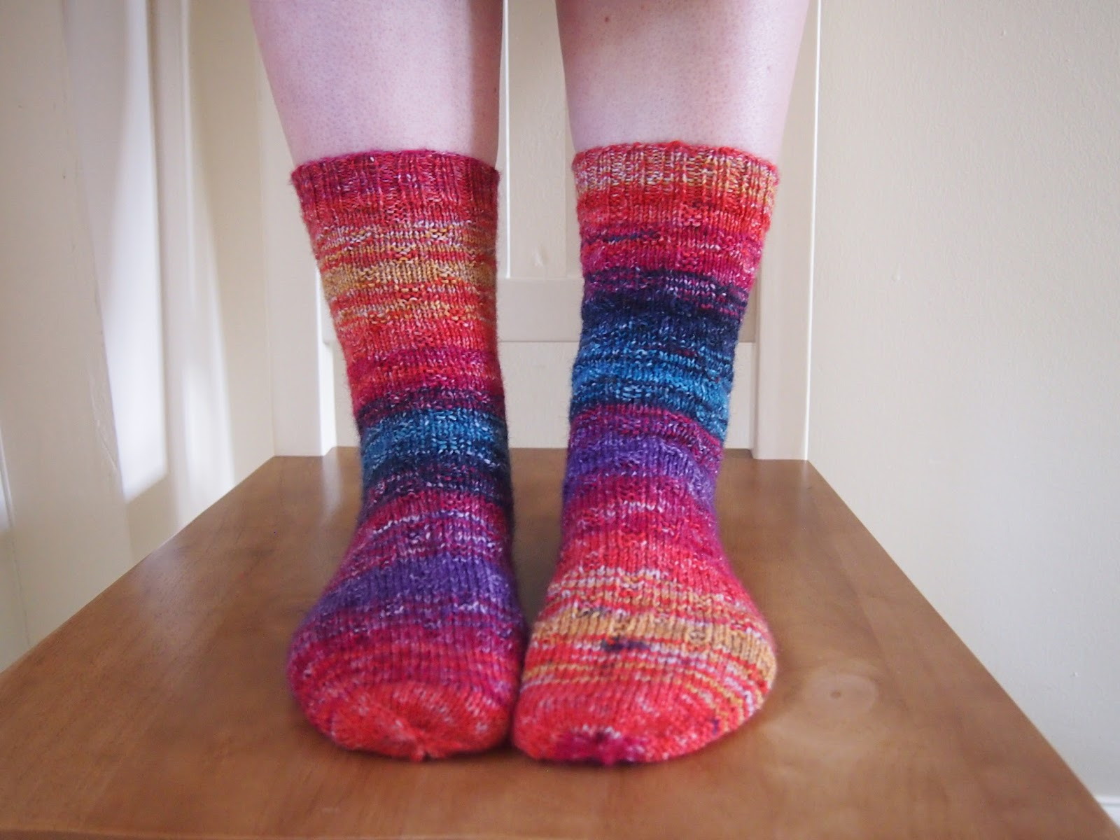 Nightingale & Dolittle: Knitting: My first socks!