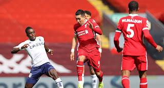 ملخص واهداف مباراة ليفربول واستون فيلا (2-1) الدوري الانجليزي