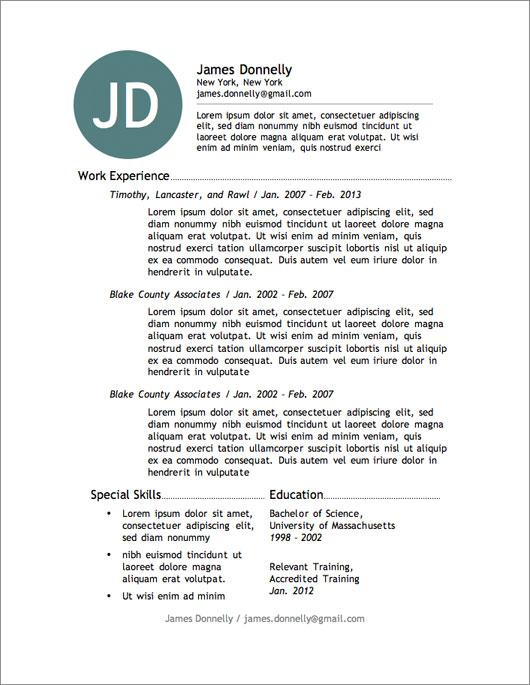 Free Resume Template  Beware  Dadakan