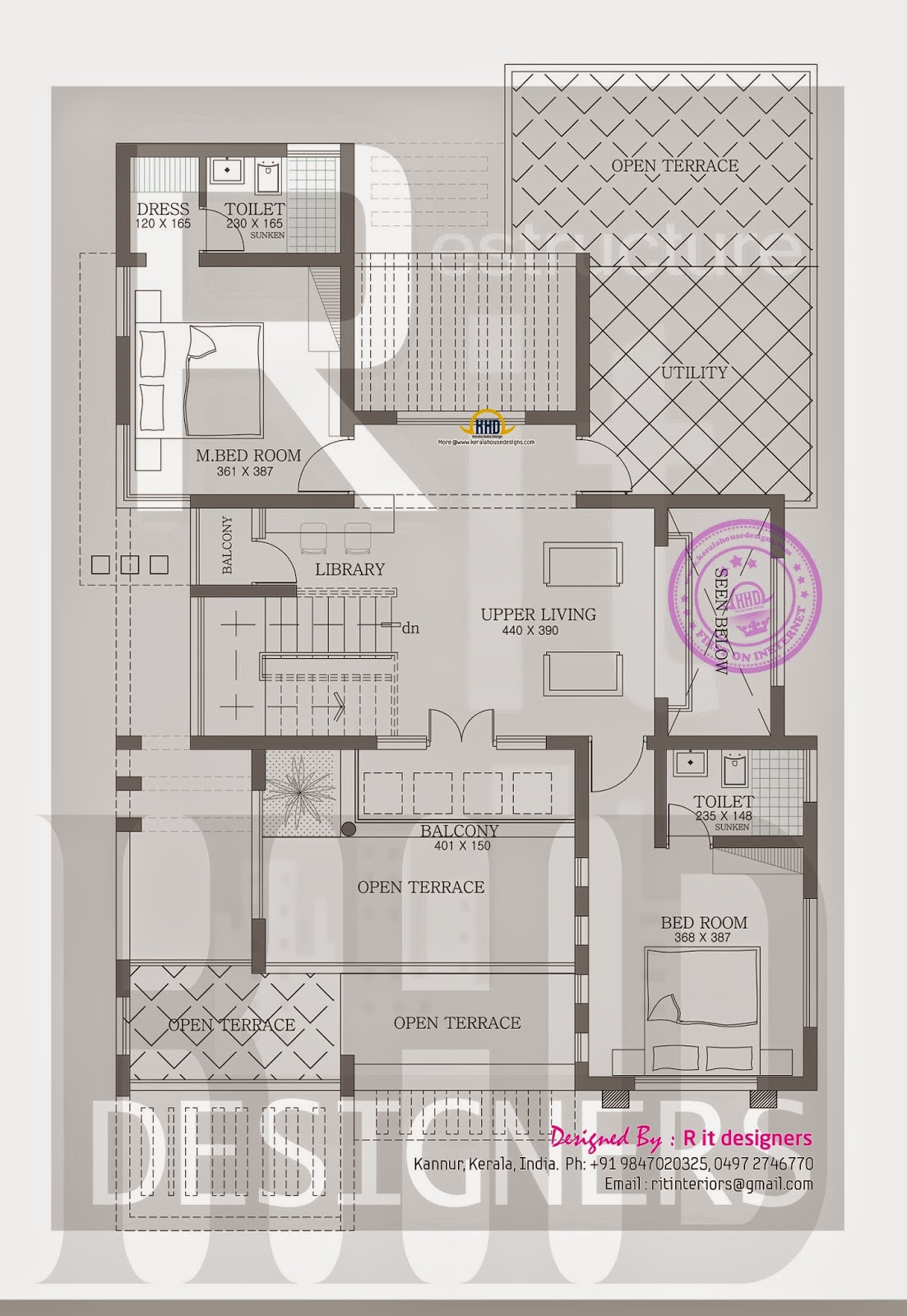 first floor plan - Designer House Plan 120 165