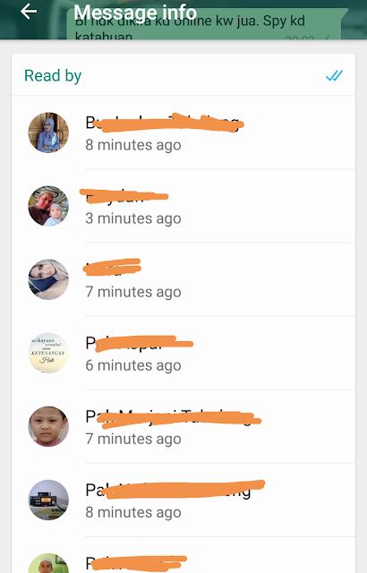 Stalking silent reader whatsapp