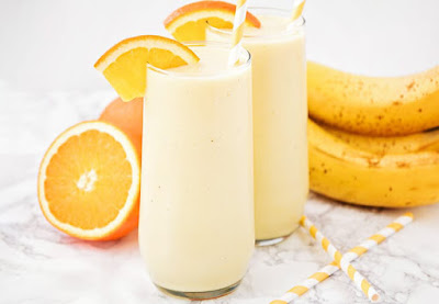 طريقة عمل عصير برتقال بالموز