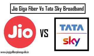 Jio Giga Fiber Vs Tata Sky Broadband