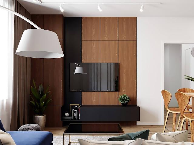 Những mẫu kệ tivi nội thất phòng khách chung cư đơn giản và ấn tượng P2