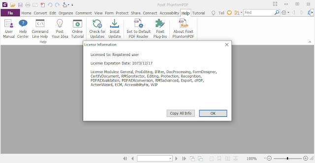 Screenshot Foxit PhantomPDF Business 9.6.0.25114 Full Version