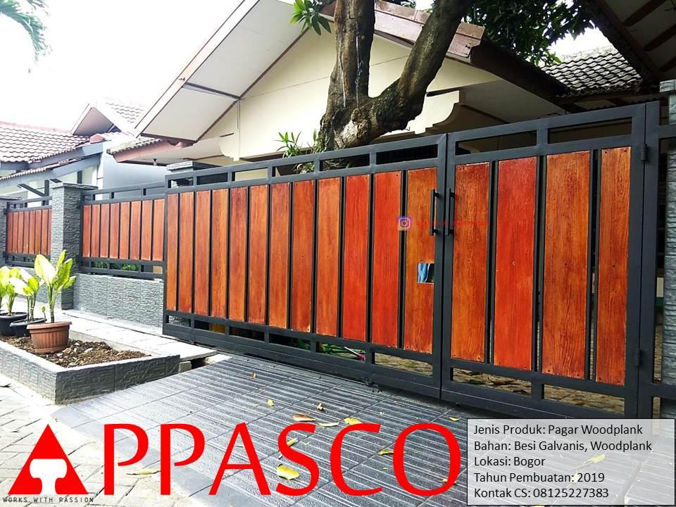 Pagar Woodplank Galvanis di Bogor