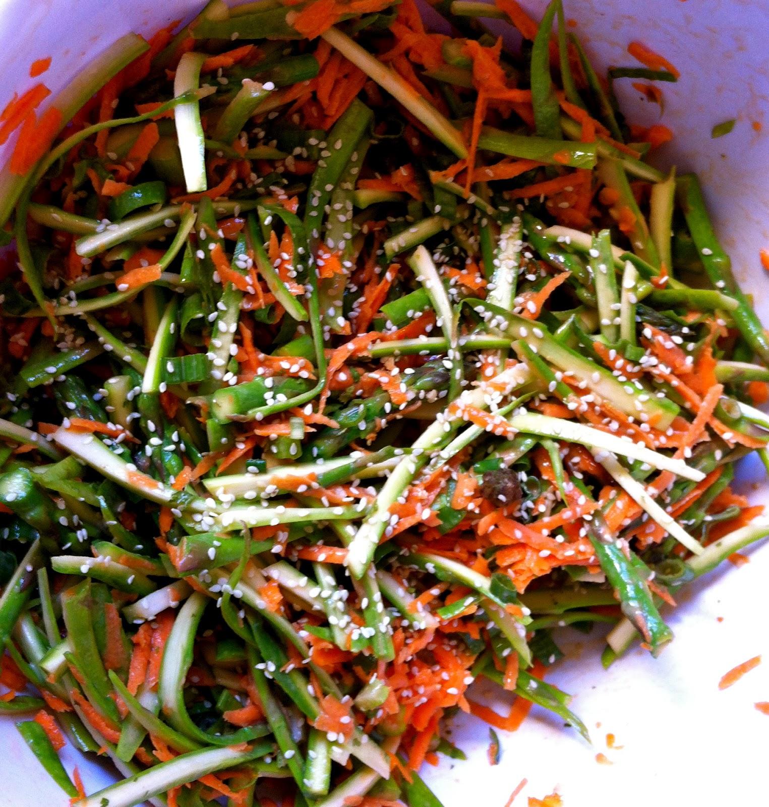 Kitchen Dance Party: Asparagus Slaw