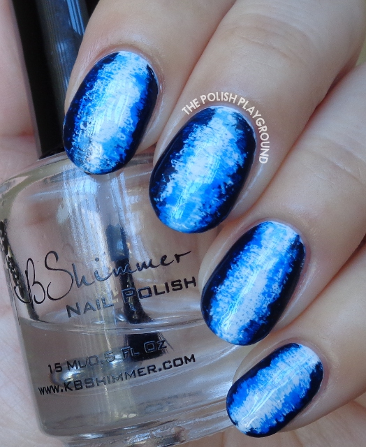 Blue 3D Inspired Nail Art