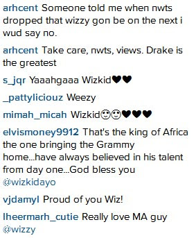 Nigerians Go Gaga As Drake Puts Wizkid's Picture On His Instagram After Dropping Album