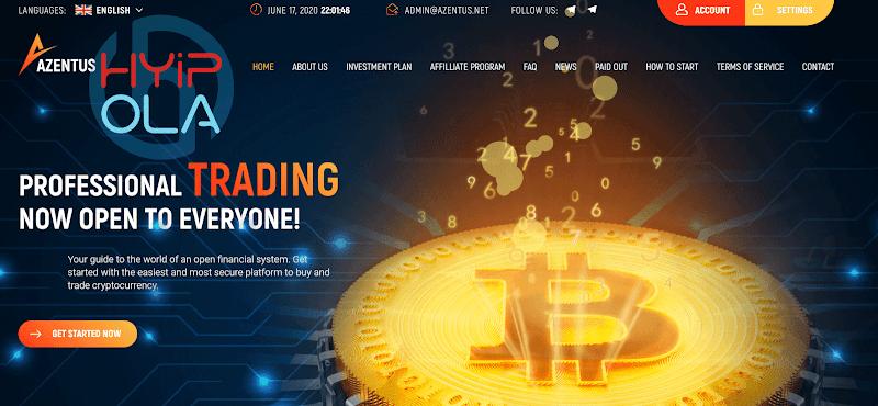 [SCAM] Review Azentus - Gia tăng Bitcoin với lãi 0.17% hằng giờ [4.08% hằng ngày]