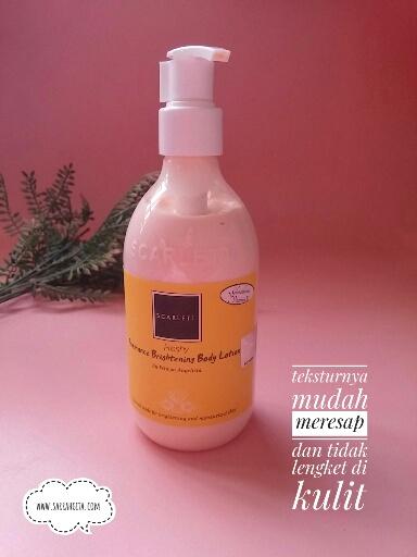 scarlett whitening body lotion freshy