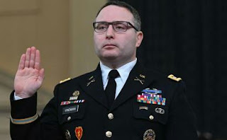 Alexander Vindman a Lieutenant Colonel  in the US Army Removes from His Job in White House