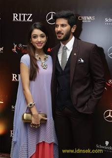 Dulquer Salmaan and Amal sufiya