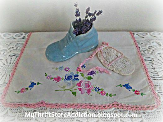 Vintage McCoy baby shoe