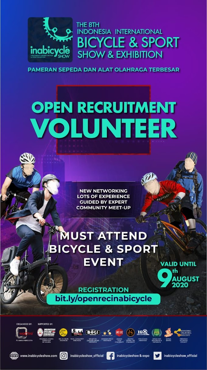 Volunteer Needed at Inabicycle Show & Expo 2020