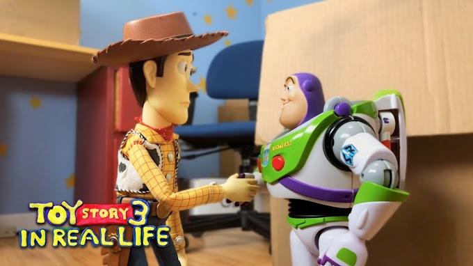 Dos hermanos ruedan durante 8 años Toy Story 3 con juguetes reales