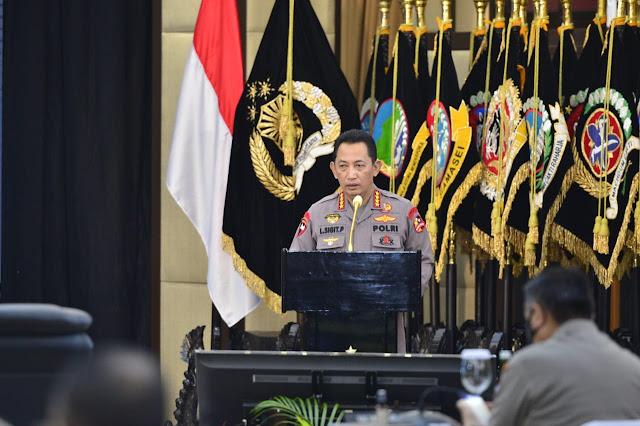 Kapolri Minta Pertahankan Kepercayaan dan Kepuasan Publik di Rakernis 4 Divisi