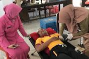 Sambut HUT Bhayangkara Ke 72, Personil Polres Kep. Selayar Donor Darah
