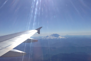 Mount Rainier Airplane View