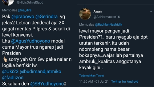 Rachland Nashidik Singgung Tukang Mebel Jadi Presiden, Netizen Sindir: Level Mayor Pengen Nyapres?