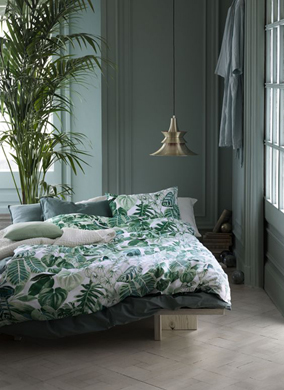 Greenery Pantone Colour of the Year 15-0343 Natural Pieceful Relaxing Interior Bedroom