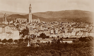 Perspectiva de la ciudad de Valls en el año 1933