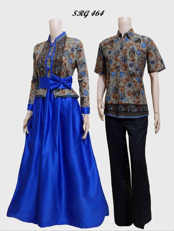 Model Baju Batik Gamis Pasangan Srg 464