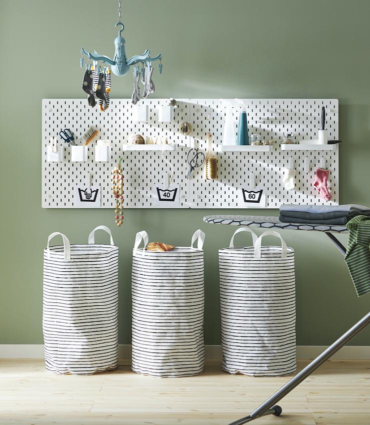 Novedades catálogo IKEA 2021 en baños: zona de colada.