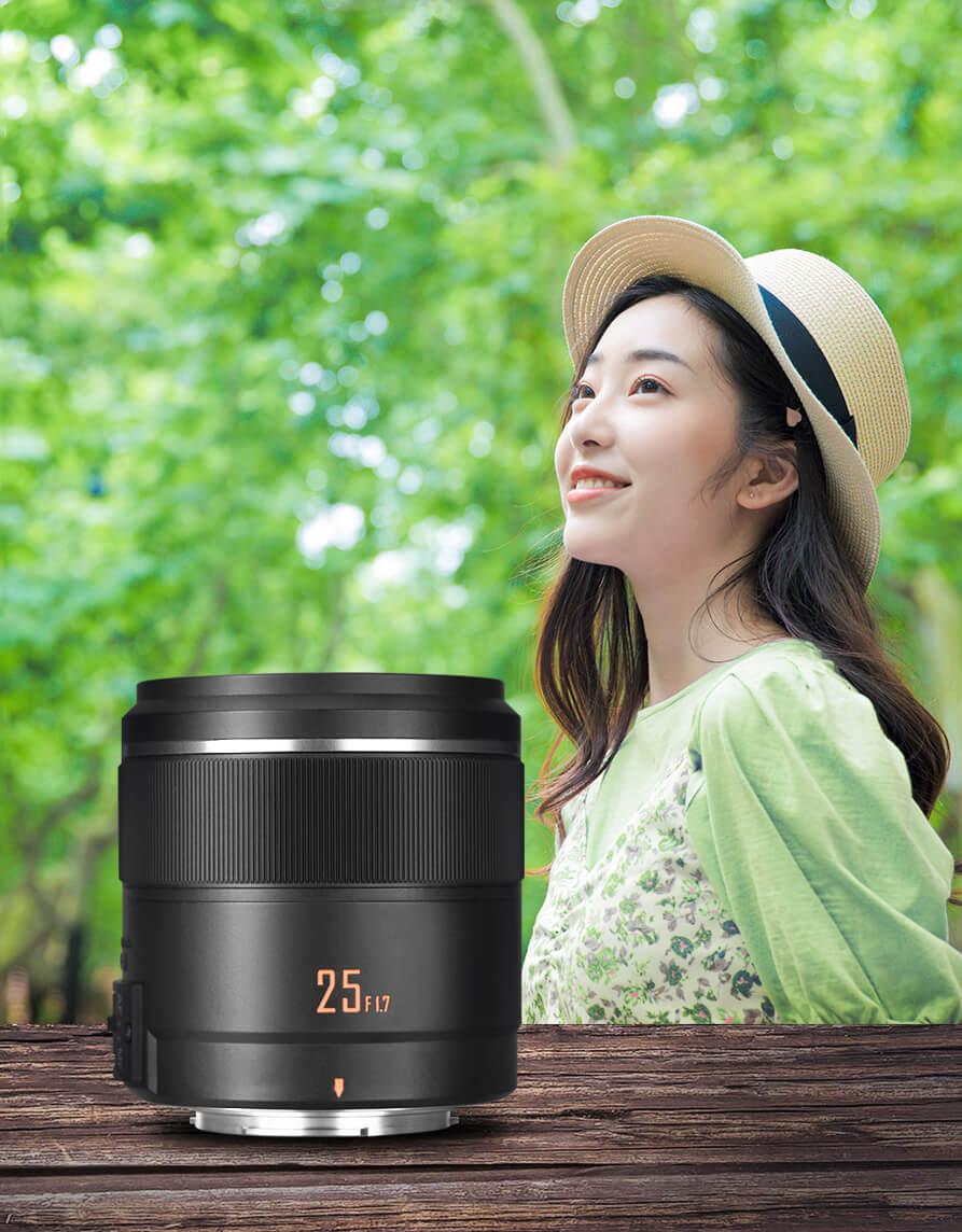 Объектив Yongnuo YN 25mm f/1.7 STM ASPH и портрет девушки