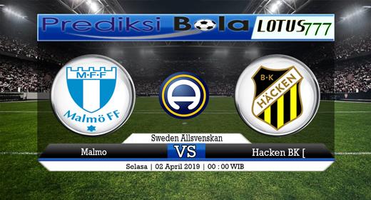 Prediksi Malmo vs Hacken BK 2 April 2019