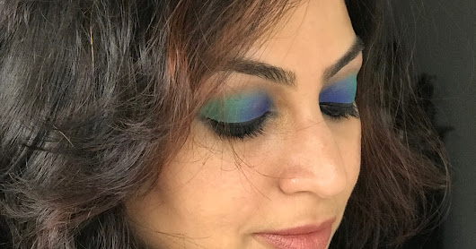 Get Colourful With Emerald Green & Royal Blue Eye Makeup