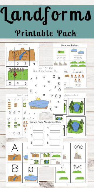 Free Landforms Worksheets