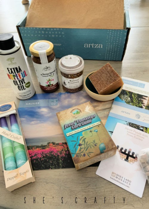 Beautiful Products from artza subscription box.