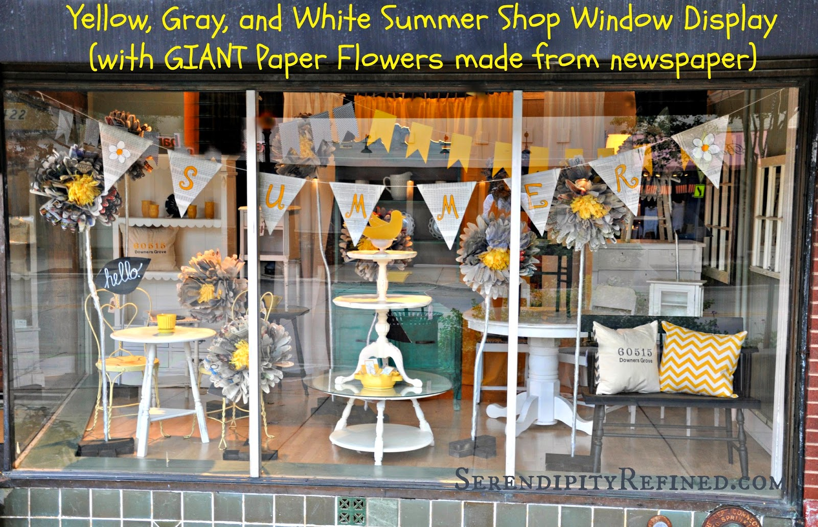 Serendipity Refined Blog Summer Store Window With Giant