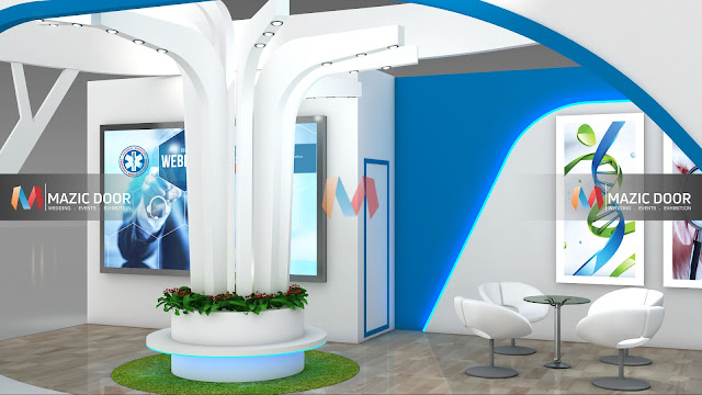 9m by 3m Exhibition stall Design 6