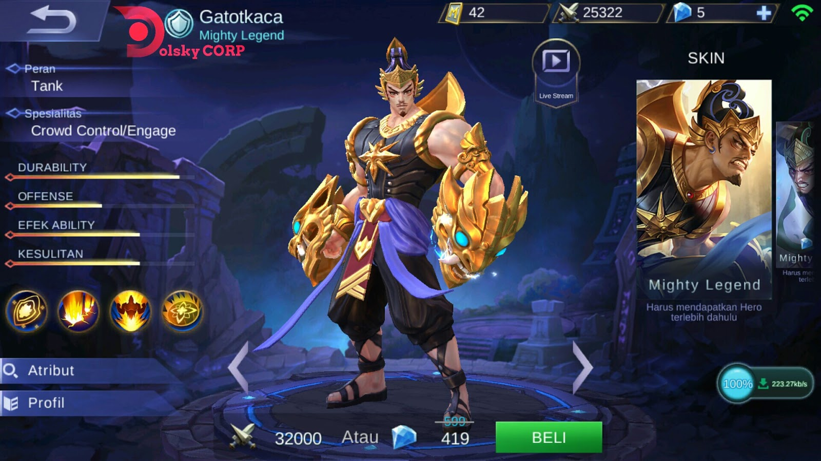 Gear Gatot Kaca Magic