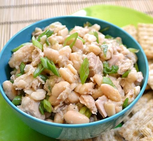 TUNA & WHITE BEAN SALAD #vegetarian #mealprep