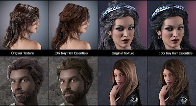 IDG Iray Hair Essentials Shaders
