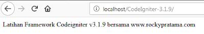 View framework codeigniter