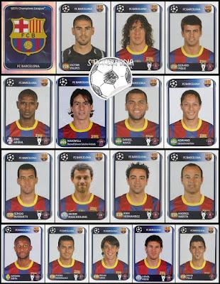 Panini Champions League Barcelona 2010/11